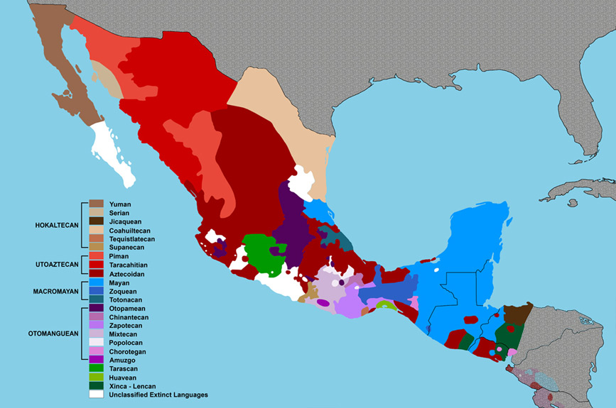 Langauge Families in Mexico