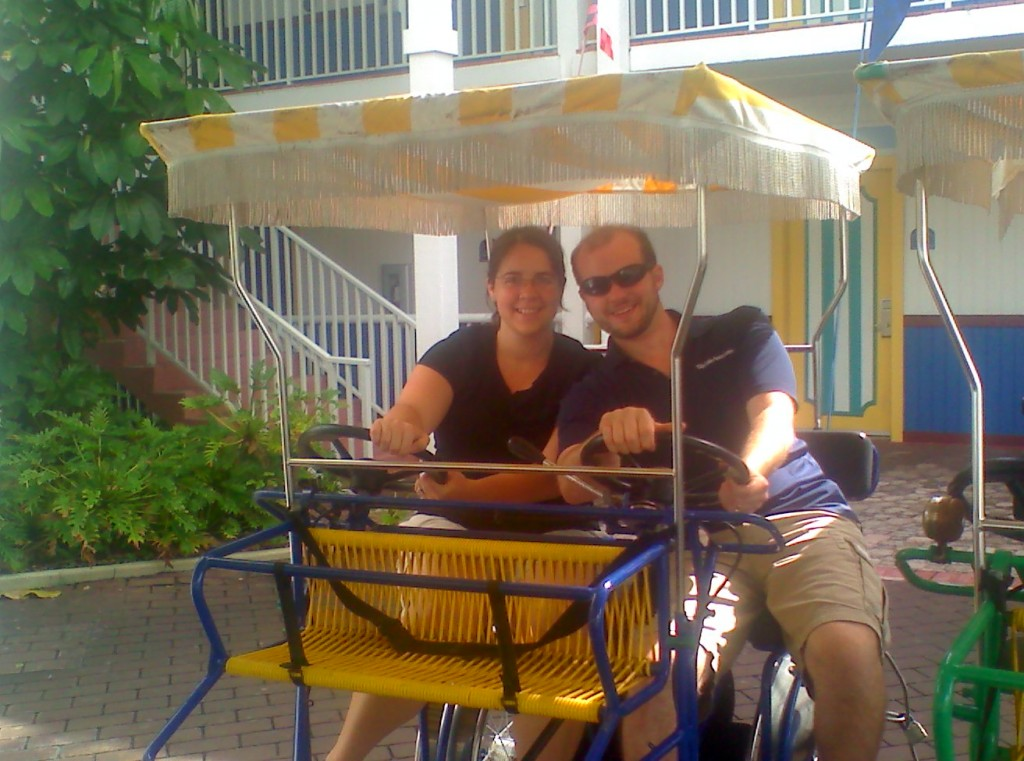 Becky and I outside our hotel in St. Petersburg FL.