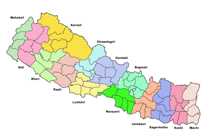 political zones in Nepal