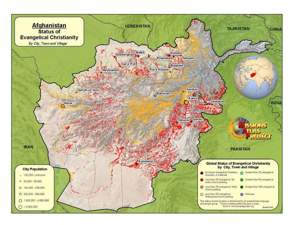Mapping Evangelical Christianity in Afganistan