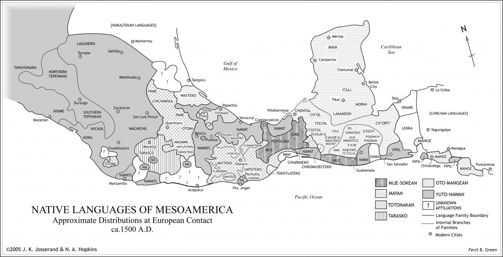 Meso-American Native Languages Map