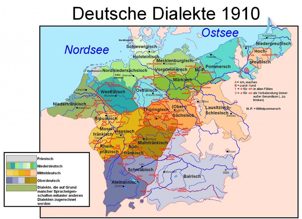 German Dialects as of 1910