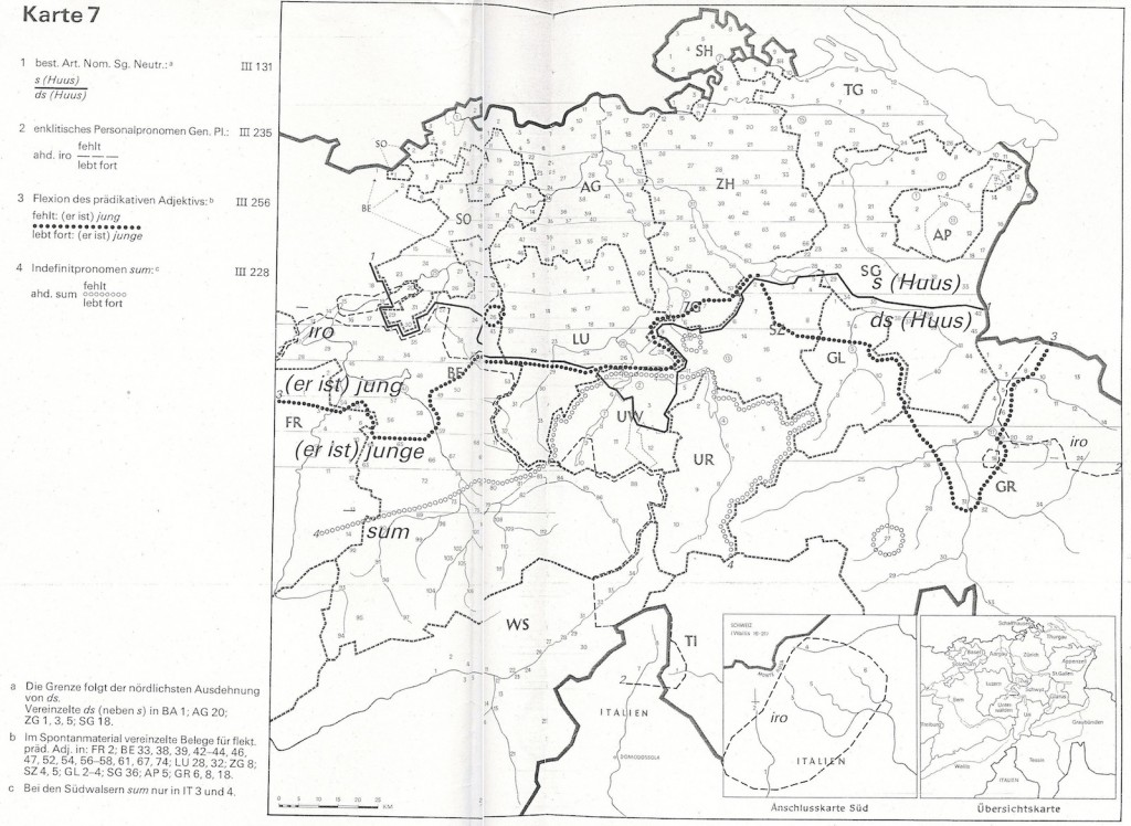 German swiss map combined 2