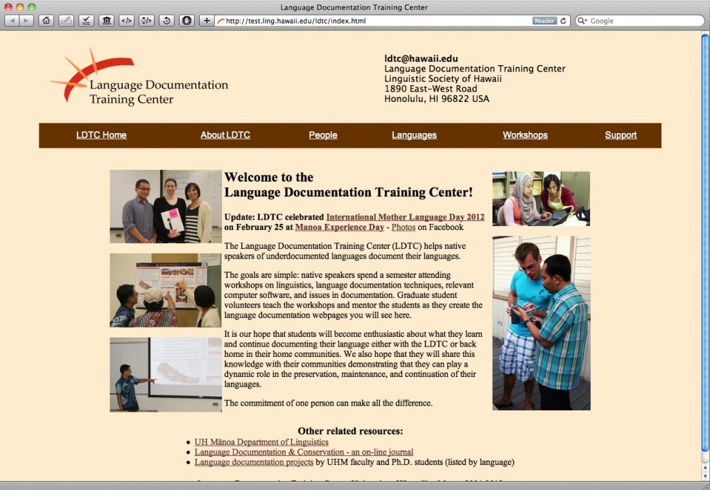 Language Documentation Training Center