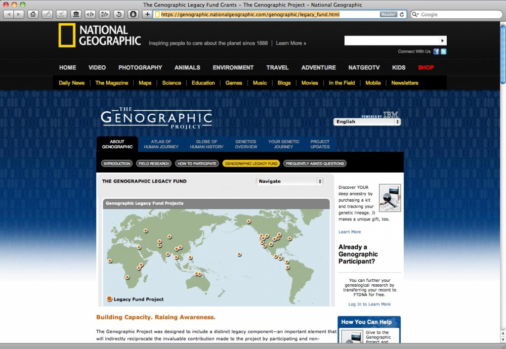 National Geographic Genographic Project