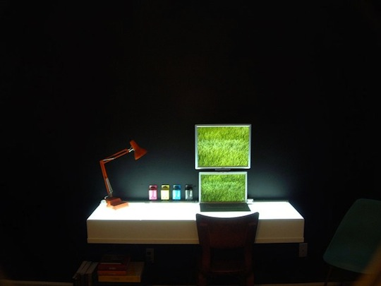 Minimalistic Light-Box Desk