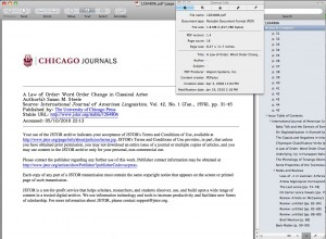Using Preview on OS X to look at the embedded meta-data in a PDF from JSTOR.
