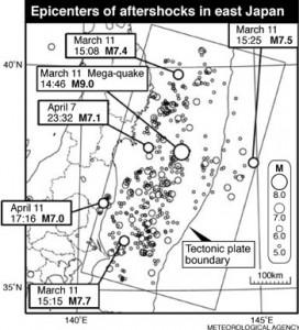 Japan earthquake visualization
