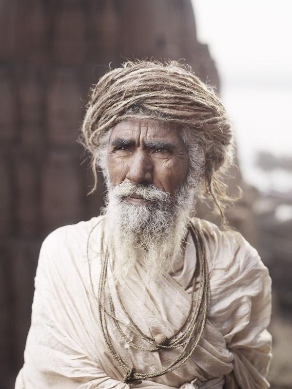 PORTRAIT OF RAM DAS Varanasi, India by JoeyL