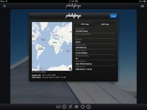 iPad Fotoforge Location Data