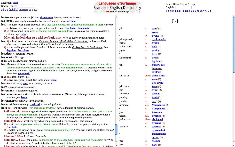 Screenshot of Suranan - English Dictionary