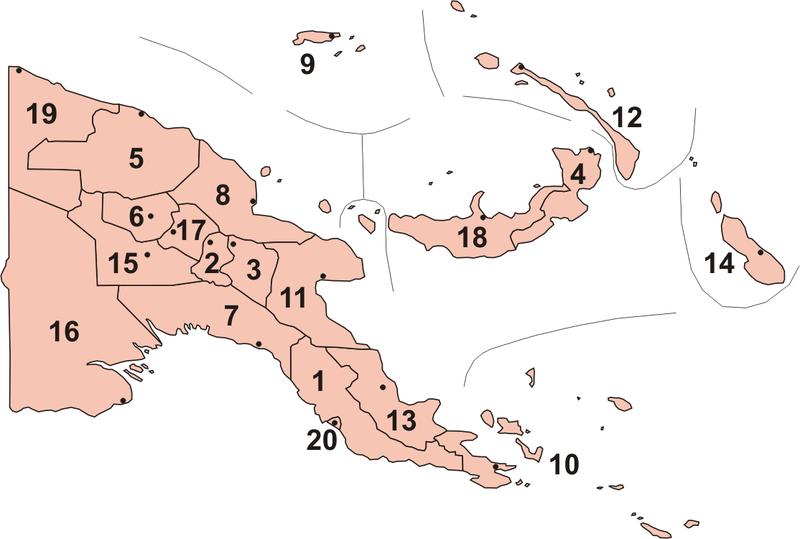 Provinces in Papua New Guinea