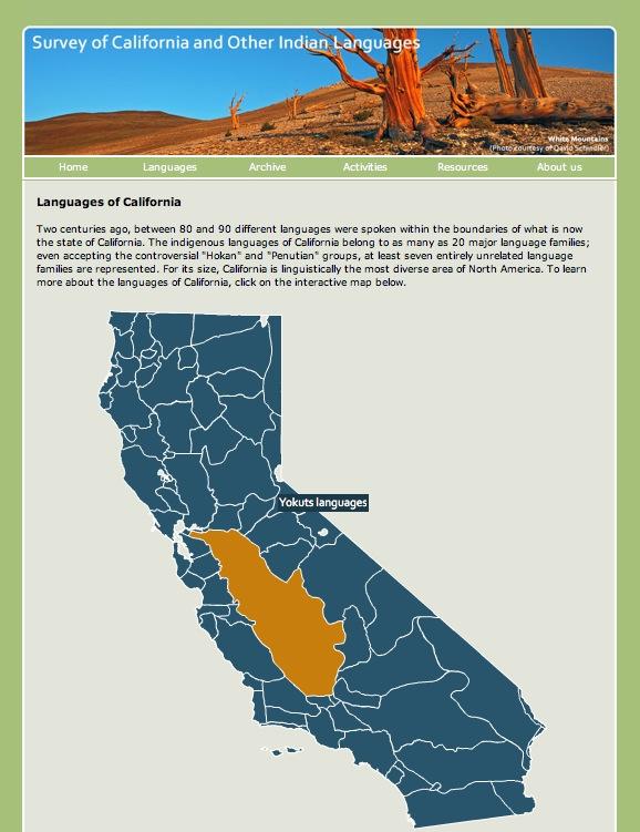 California Languages Map