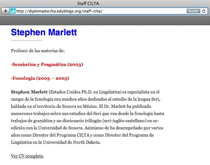 Steve Marlett's Profile at the CILTA Training Program