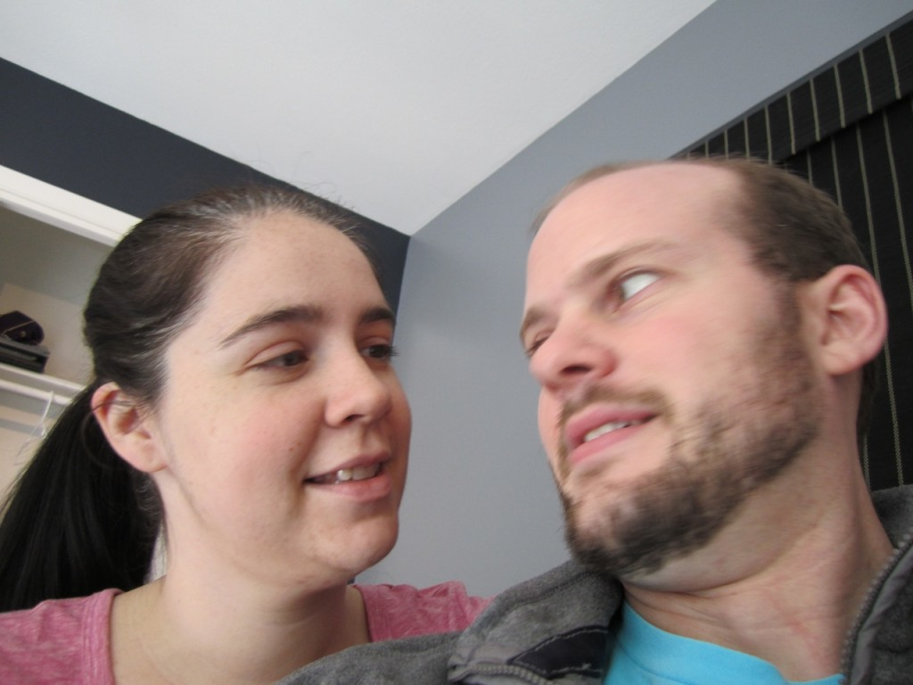 Becky and I in the new office in November of 2011