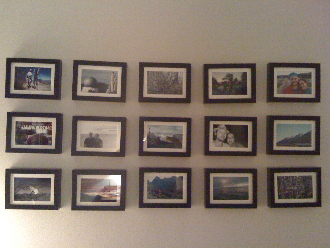 We also set up a bunch of pictures on our wall...