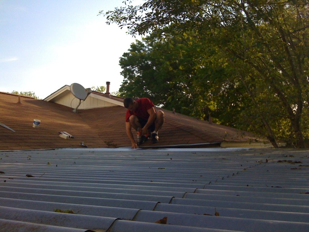 Roof work with Jed