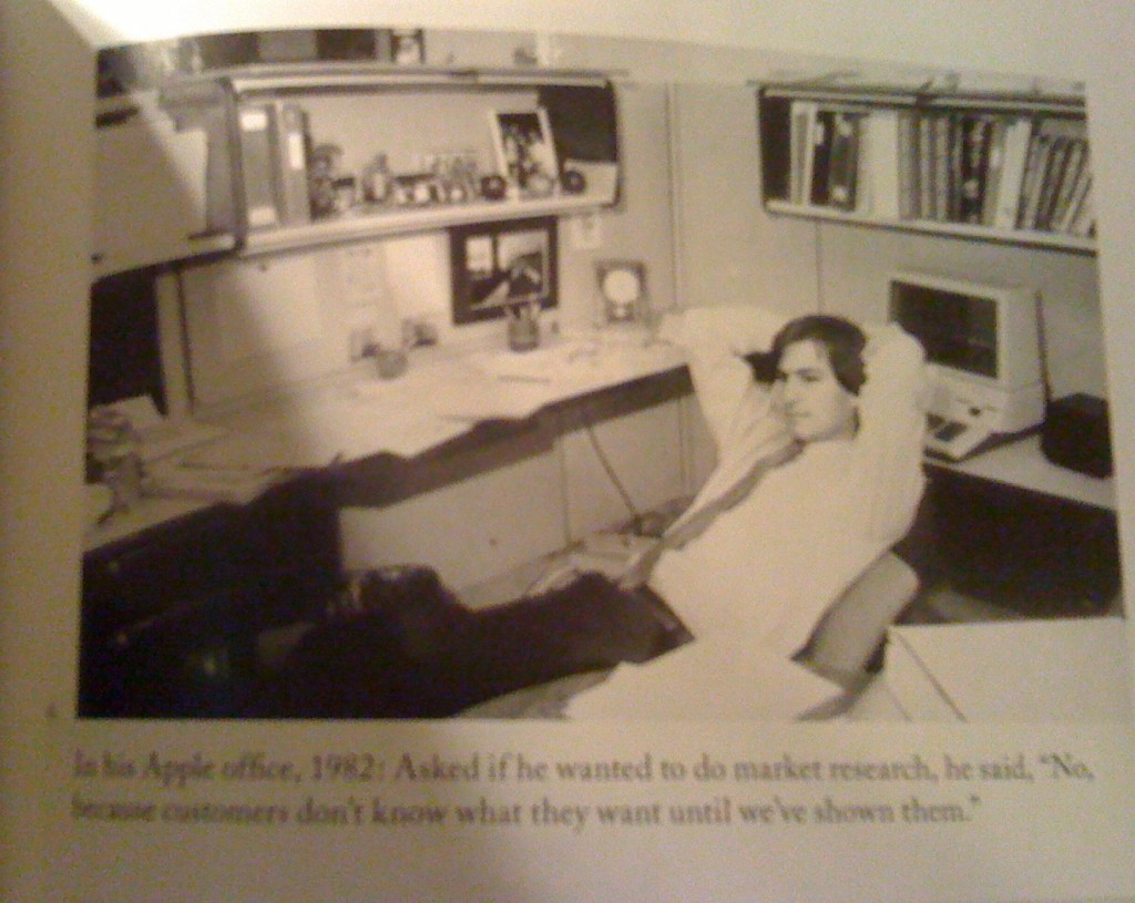 Steve Jobs in office in 1982