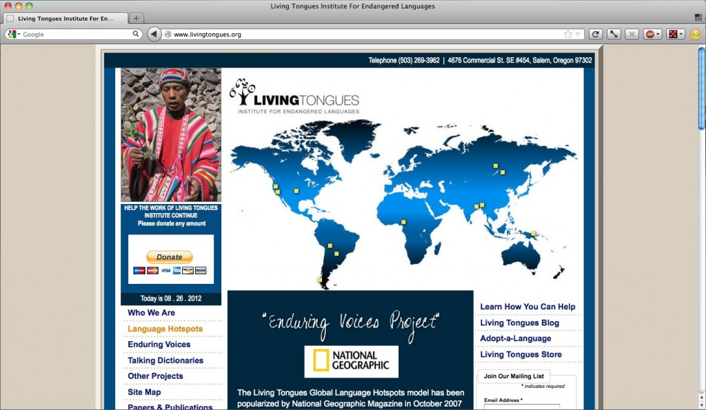 Living Tongues Institute for Endangered Languages