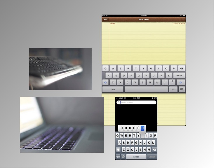 Keyboards Virtual and Physical