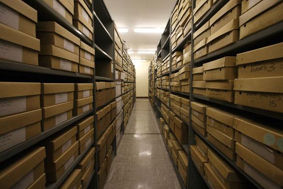 BBC Archives The BBC Written Archives shelves