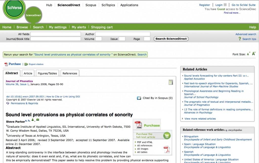 Steve Parker's paper on the publisher's website