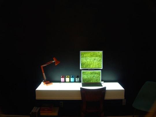 Minimalistic Light-Box Desk
