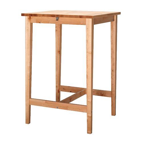 Ikea BJÖRKUDDEN birch bar table