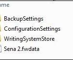 Screenshot of FLEx Backup file