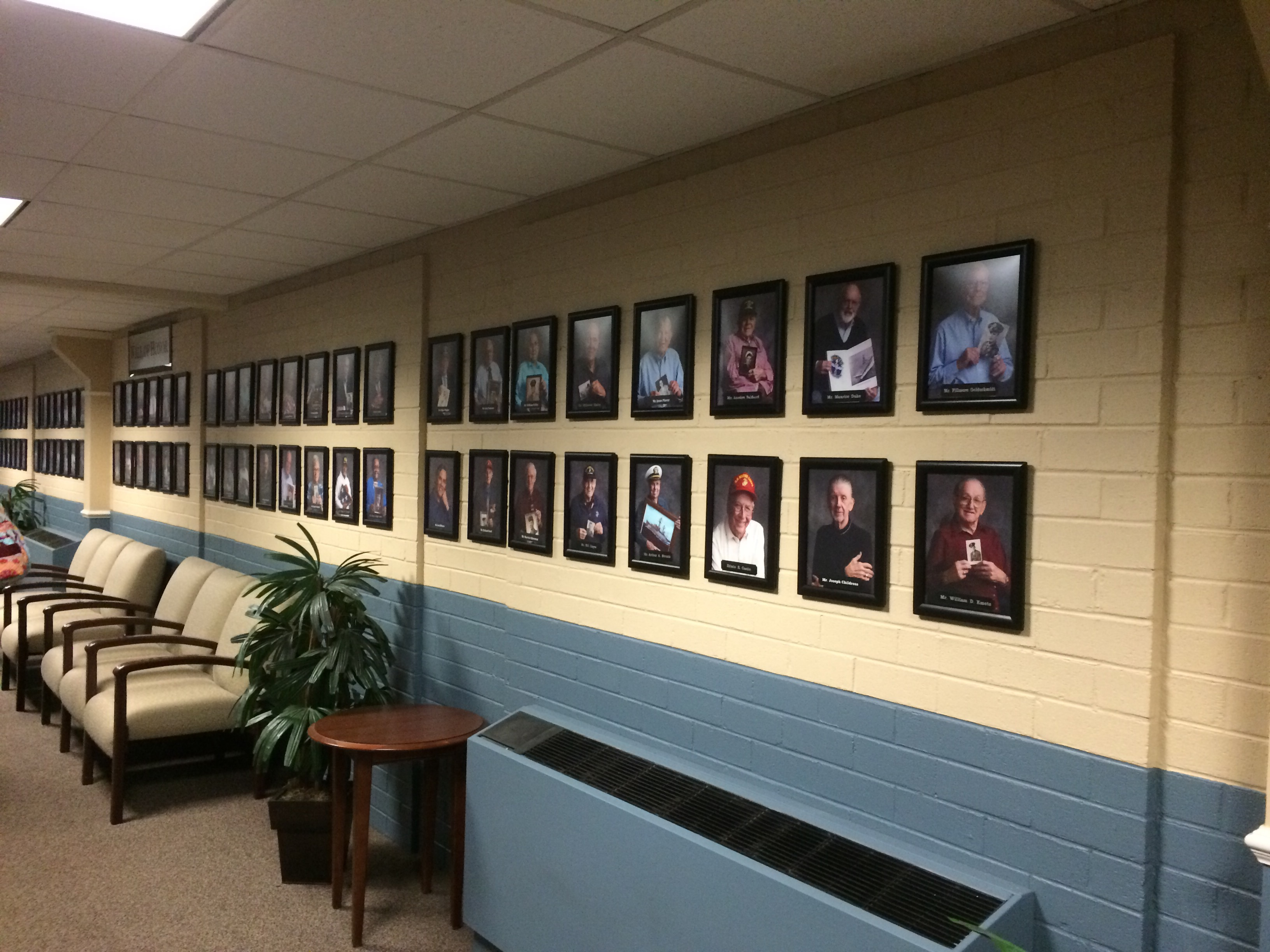 Wall of honor: a picture gallery of people who live here and have served in the military