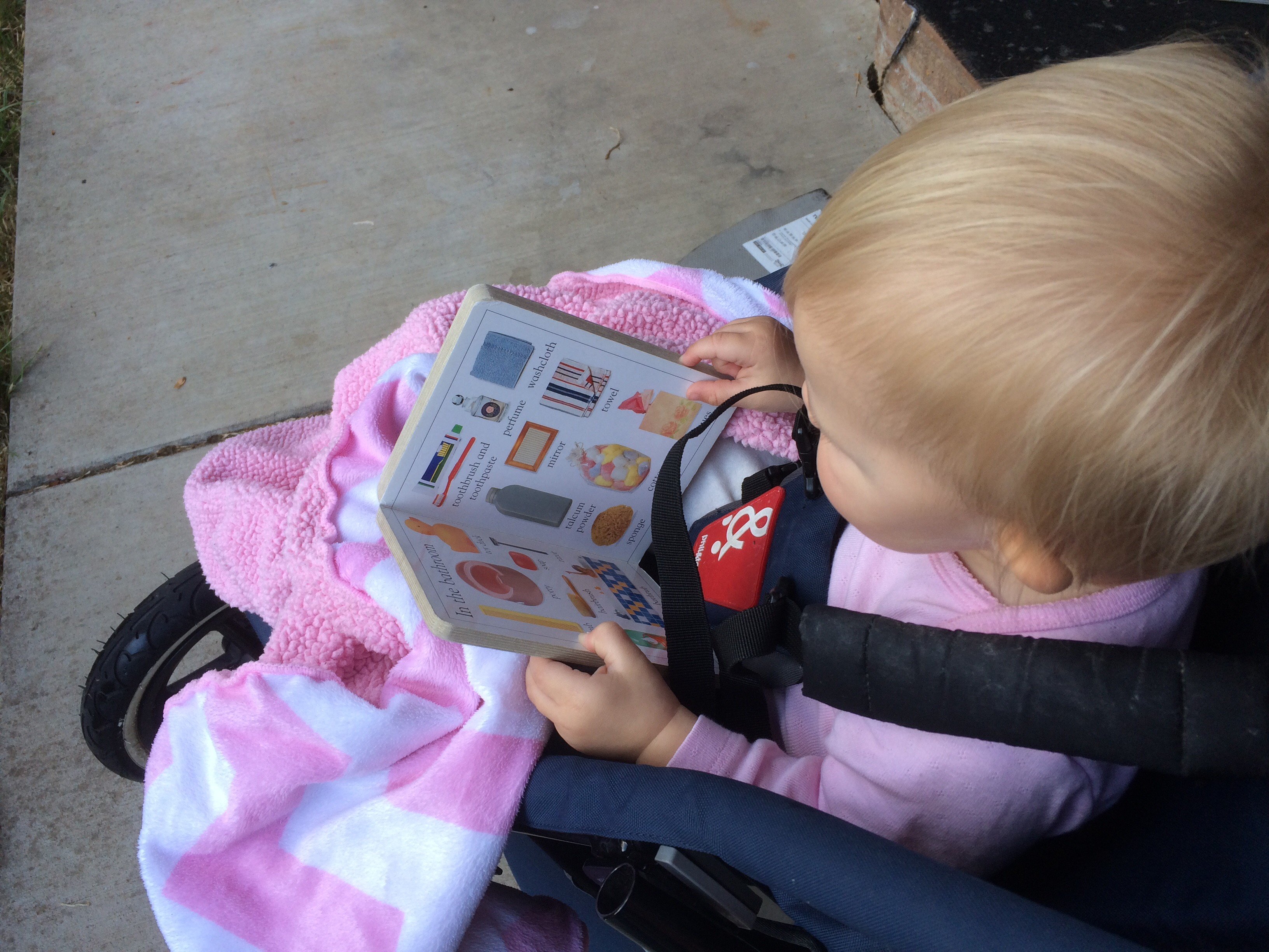 While reading she will sometimes babel to herself.